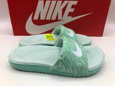 Nike Kawa Slide Print PreSchool 13c Mint White 819359 300 New in Box!