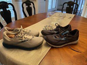 Brooks Glycerin 18 Running Walking Athletic Shoes Black Blue Mens Size 12.5 2E