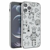 For Apple iPhone 12 Mini Silicone Case Science Chemistry Pattern - S3505