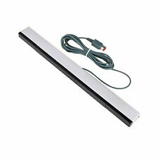 Sensor bar for Wii /Wii U Wii Nintendo Wired LED Infrared Ray Motion - Silver