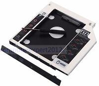 2nd HD Hard Drive SSD HDD Enclosure Caddy Adapter for HP 340 350 355 G1 G2 GU90N