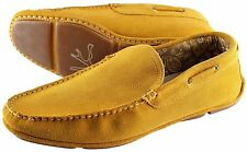 NWB 520$ ISAIA DRIVING MOCCASINS loafer shoes suede yellow Italy 7.5 us 9.5