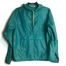 Vintage Lacoste Izod Green M Windbreaker Jacket Crocodile Alligator 1/4 Zip