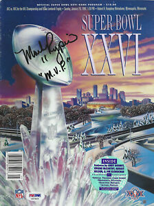 "MARK RYPIEN REDSKINS SUPERBOWL XXVI ""MVP"" SIGNED & INSCRIBED FULL PROGRAM"