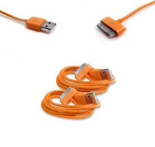 2 6FT 30PIN USB SYNC DATA POWER CHARGER ORANGE CABLE CORD IPHONE IPOD TOUCH IPAD