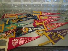 VINTAGE FELT LOT (12) PENNENTS / BANNERS 1941 & MORE * GREAT VARIETYC* FEATHERS!