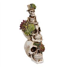 Flor de Resina apilados Floral Cactus Calavera Esqueleto Ornamento