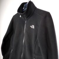 North Face Black M Full Zip Fleece Jacket Winter Outdoors Half Dome Logo