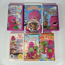 Barney VHS Lot (6) Christmas Musical Castle School To The Zoo ABC's 123's NSOTV