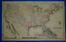Vintage 1858 Atlas Map ~ United States w/ Western Territories ~ Old & Authentic