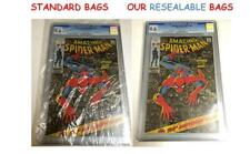 (40) Graded CGC CBCS SLABBED RESEALABLE CRYSTAL CLEAR SPARKLING MYLAR COMIC BAGS