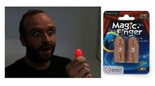 MAGIC FINGER 1 RED PAIR THUMB TIPS LITE FROM ANYWHERE MAGIC TRICK LIGHT ILLUSION
