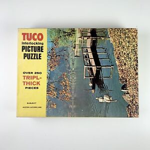 Tuco Interlocking Picture Puzzle 250+ Tripl Thick Austria Autumn Lake Complete