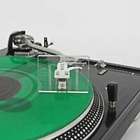 Clear LP Vinyl Record Player Measuring Phono Tonearm VTA/Cartridge Azimuth Ruler
