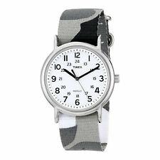 Timex Women's Quartz Watch Weekender Slip-Through Strap T2P366