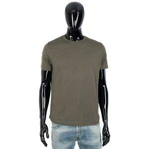 LORO PIANA 535$ Shortsleeve Crewneck Tshirt In Rosemary Green Cotton & Silk