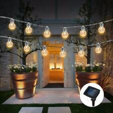 10LED Solar Kugel Lichterkette Garten Außen Outdoor Beleuchtung Lampe PartyLicht