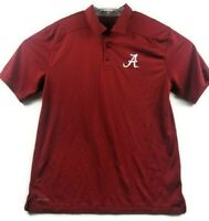 Nike Dri-Fit Alabama Crimson Tide Mens M Medium Red Polo Shirt NCAA