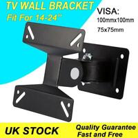 "Swivel Tilt TV Wall Bracket Vesa Mount for LCD LED 3D Plasma 14''-24"" Television"