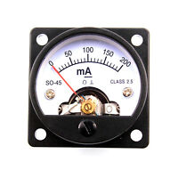 45mm 200mA DC Moving Coil Panel Meter For 300B 845 Vintage Tube Amplifier DIY
