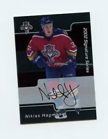 01-02 BE A PLAYER BAP SIGNATURE AUTOGRAPH AUTO #234 NIKLAS HAGMAN PANTHERS 60996