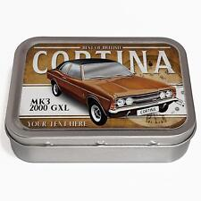 Personalised Ford Cortina mk3 2000 GXL 2oz Tobacco Tin Classic Car Baccy CL12