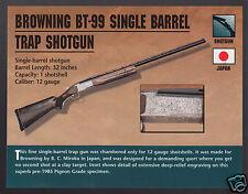 BROWNING BT-99 SINGLE BARREL TRAP SHOTGUN B.C.Miroku Classic Firearms PHOTO CARD