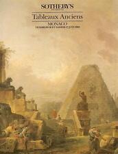 Sotheby's Tableaux Anciens Monaco Auction Catalog 1989