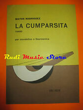 MATOS RODRIGUEZ La cumparsita 1981 RARO SPARTITO SINGOLO italy cd lp dvd mc