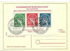 1949 Berlin Special Post Mark used on Sonderpostwertzeichen Michel Block 1 SS 8