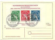 1949 Berlin Special Post Mark used on Sonderpostwertzeichen Michel Block 1 SS 8