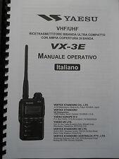 YAESU VX-3E RICETRASMETTITORE MANUALE ITALIANO FORMATO A4