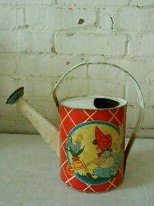 Vintage 1940's? ~ OHIO ART ~ Child's Tin Watering/Sprinkler Can (134)