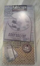"Fabscraps the Adrenaline collection Die-Cut Tags Journal 8""X4"" Pad 60 Sheets"