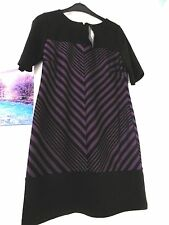 Ladies black and purple dress size 10 NWT from BHS