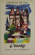Affiche C. VENARD 1996 Exposition CHATEAU DE VAL