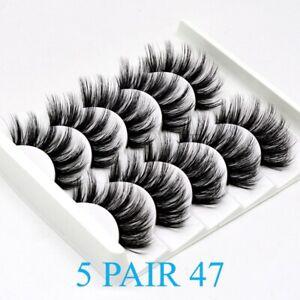 5Pairs 3D Natural False Eyelashes Long Thick Mixed Fake Eye Lashes Makeup Mink47