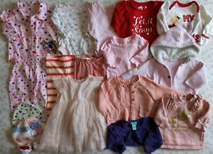 Girls Autumn Winter Bundle 0-3 Months Inc Next Monsoon Mini Club Mothercare etc