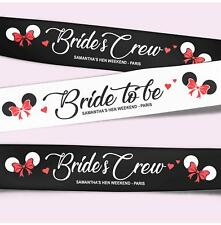 Personalised Hen Party Sashes Cute Mouse with Red Glitter