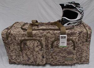 XL Motorcycle atv gear bag motocross mx snowmobile digital desert brown camo