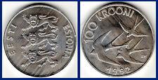 100 SILVER KROONI / 100 KROONI DE PLATA. ESTONIA.1992. GOLONDRINAS. PROOF.