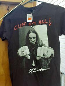 Cliff Burton T-Shirt NEW with TAG Extra Small  Black  Super Kool Cliff em All