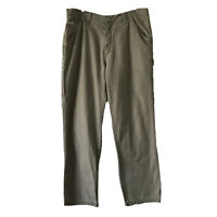 Columbia Mens 36x34 Hiking Pants 100% Cotton Utility Pockets Relaxed Fit Camping