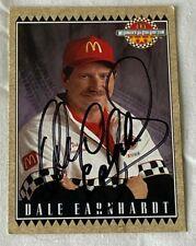Dale Earnhardt VINTAGE MCDONALDS NASCAR WINSTON CUP GM 1992 autographed card #2
