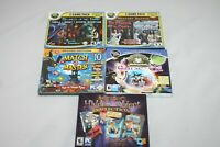 Lot of 5 Games Amazing Mysteries Hidden Objects Match CD Rom PC Games Free Bonus