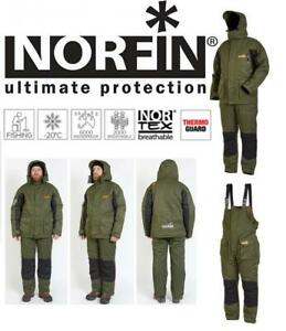 Norfin Element Ice-Fishing Insulated Green Jacket / Bib Suit-Set (Select Size)