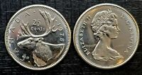 Canada 1978 *Large Denticles* Brilliant Uncirculated BU UNC Quarter!!