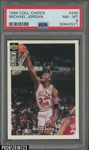 1994 UD Collector's Choice #240 Michael Jordan Chicago Bulls HOF PSA 8 NM-MT