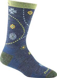 Darn Tough Women's 248554 Denim Heather Garden Crew Light Sock Size L