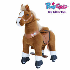 PonyCycle Official U Brown Ride on Horse Toy Plush Animal Small, Ages 3-5, U324